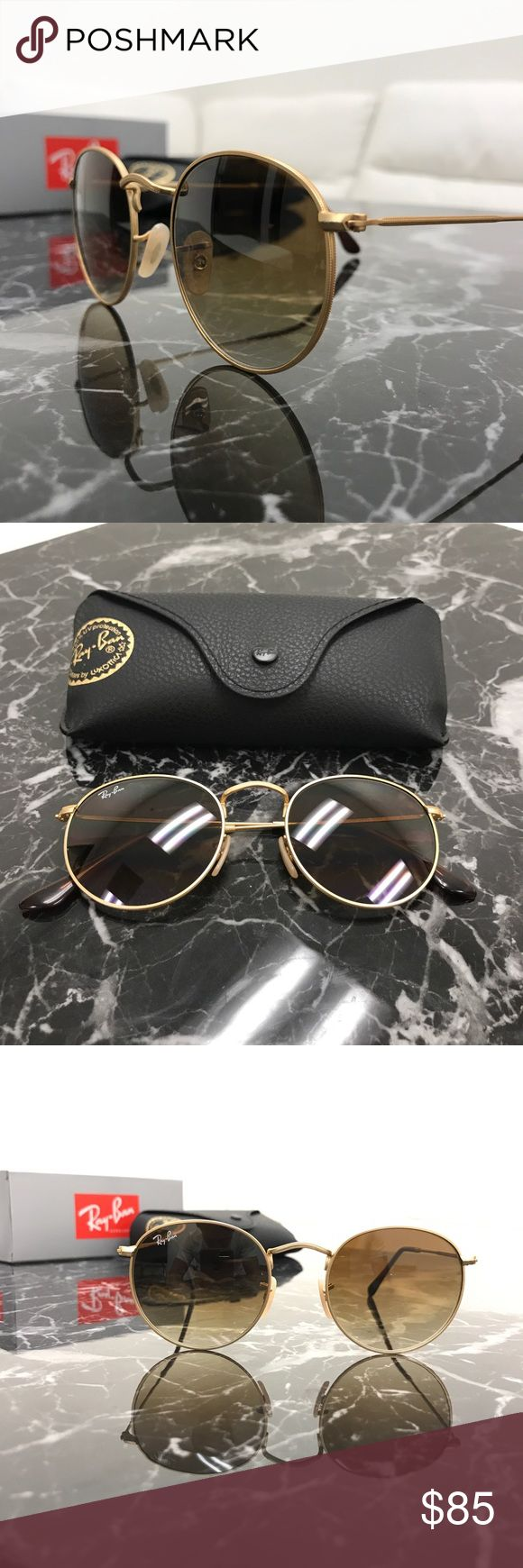 Ray Ban Round RB2110 Yellow Green Pattern Frame Grey Lens