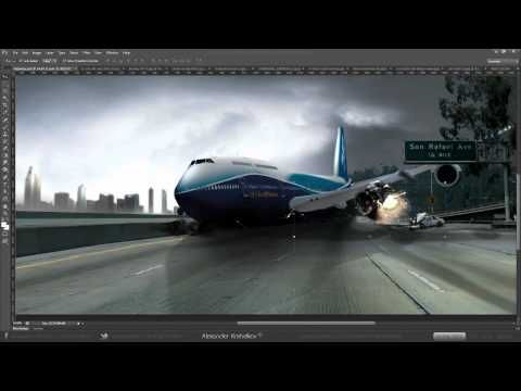 Luftbanza Airlines Crash - (Photoshop CS6)