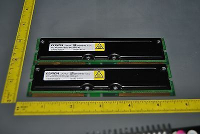 512MB (2X256MB) RDRAM RAMBUS RAM ELPIDA 256MB/8 ECC (S7-6-18C)