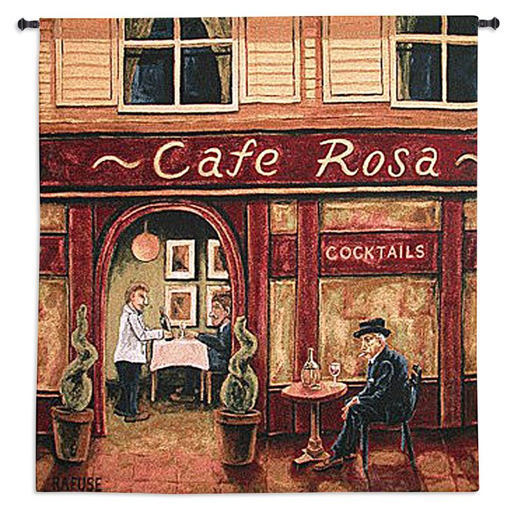 Fine Art Tapestries Cafe Rosa Wall Tapestry - 1436-WH