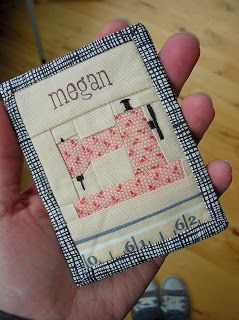 CUTE 'n EASY - FREE pattern for name tags, etc. from monkey beans - darling!!