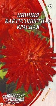 Цинния Кактусоцветная 0.3 г Красная (Семена Украины)