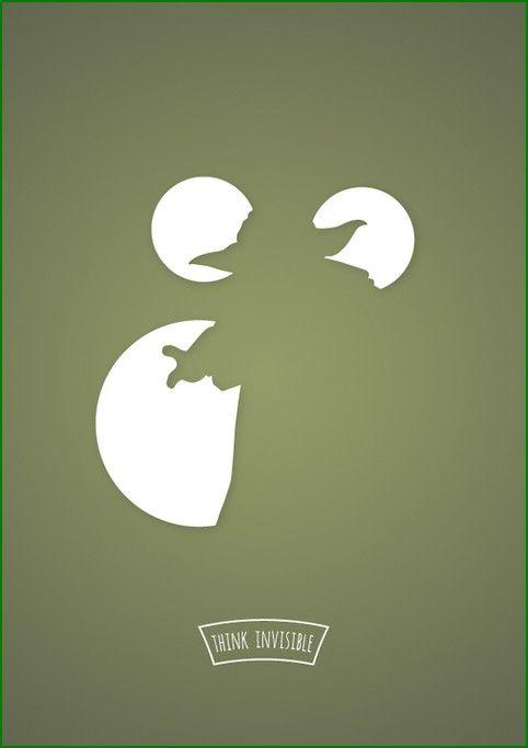 Think negative : les affiches minimalistes qui prennent sens dans lespace négatif espace negatif affiche minimaliste