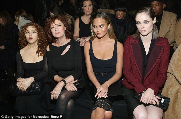 Legends: Chrissy and Coco sat with both Susan, an Oscar winner, and Bernadette Peters (lef...