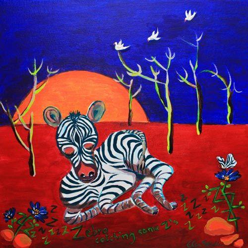 Z is for Zebra....Zebra, catching some Z's