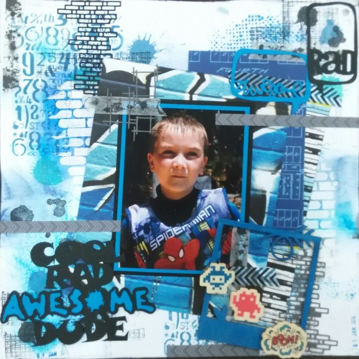 Scrapbooking awesome dude