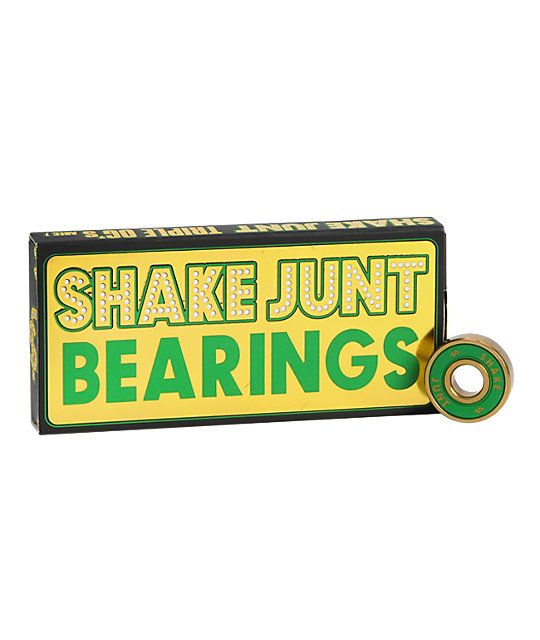 Get the Shake Junt Abec 7 skateboard bearings for an incredibly smooth and fast ride that looks great.