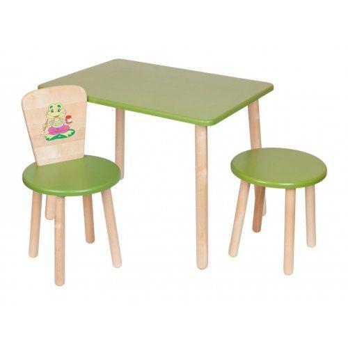 Столик и стульчик РусЭкоМебель Набор №3: Стол Большой 70*50 ЭКО+Стул Круглый ЭКО+Табурет ЭКО