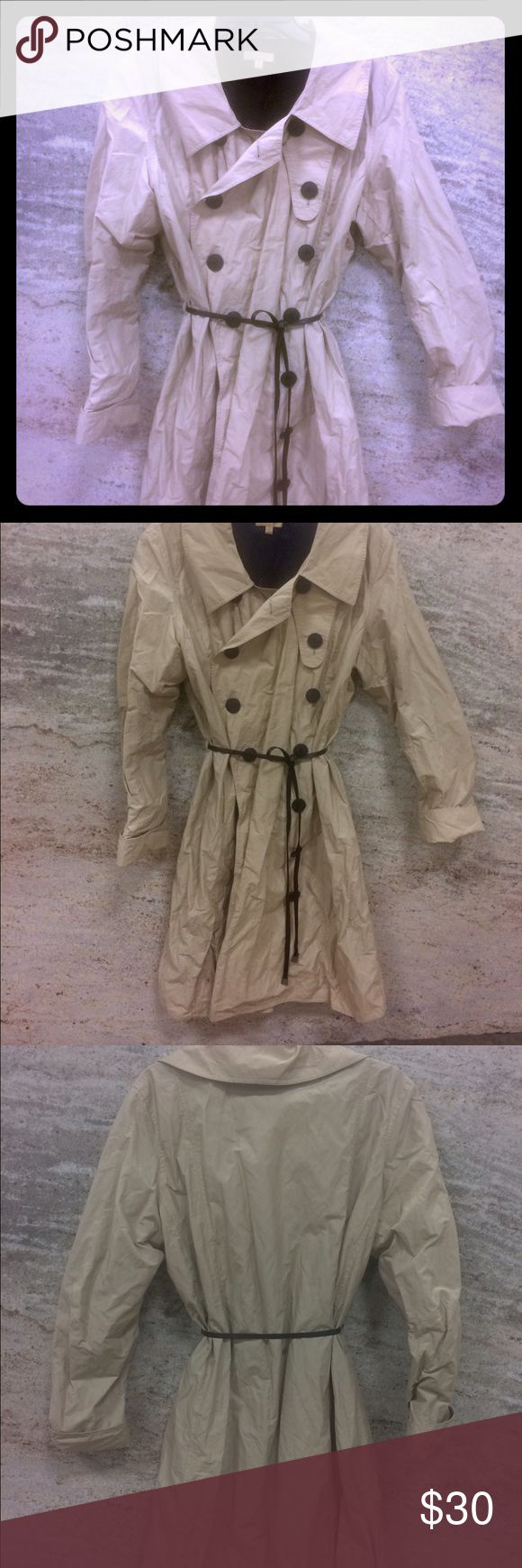 Wilsons leather Trench-coat Wilsons leather Trench-coat classic double breasted letter belt. Never been worn big on me Wilsons Leather Jackets & Coats Trench Coats