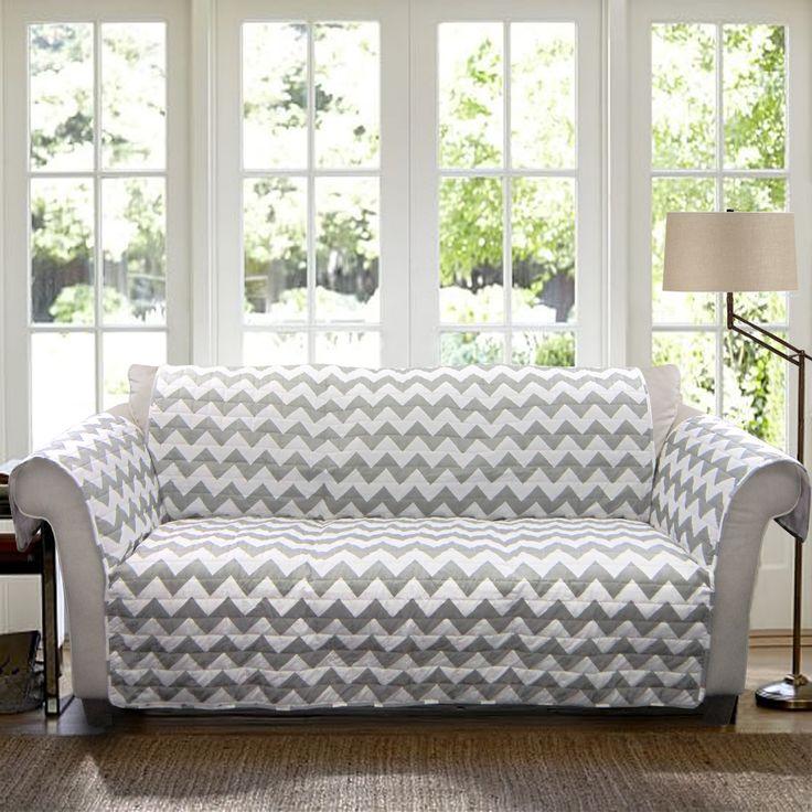 Chesterfield Sofa Lush Decor Sohpie Slipcover Furniture Protector for Sofa Blue