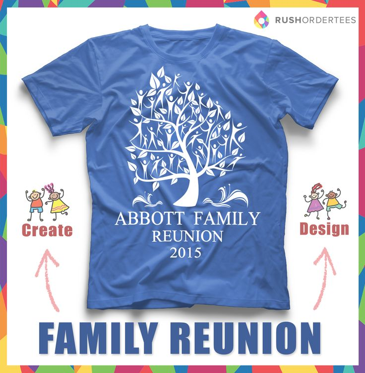 Family Reunion Custom T Shirt Design. Click And Edit Your Family Name! Www