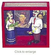 Frida and Diego diorama