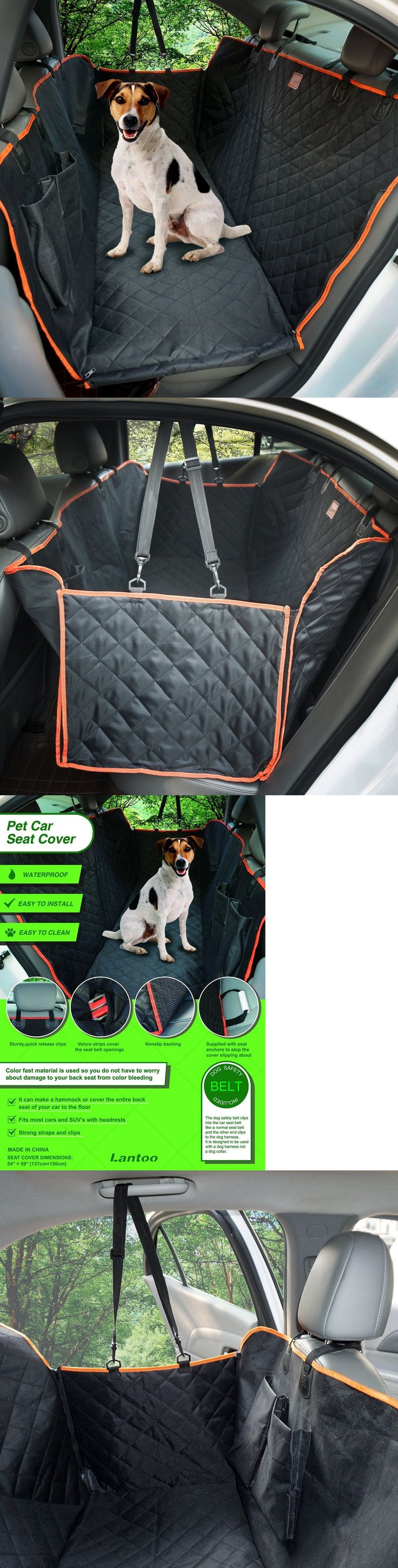 Car Seat Covers 117426: Lantoo Dog Seat Cover, Large Back Seat Pet Seat Cover Hammock For Cars, Trucks, -> BUY IT NOW ONLY: $43.39 on eBay!