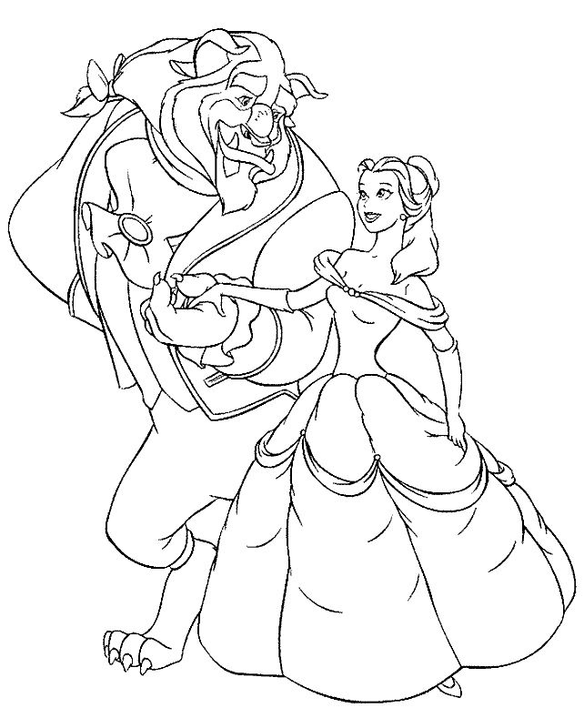 beauty and the beast coloring pages printable beauty and the beast coloring pages kidsdrawing free coloring pages online - Baby Princess Belle Coloring Pages