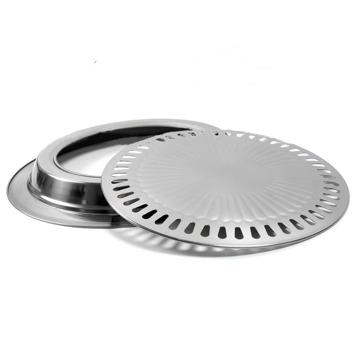 Non-stick Gas Grill Pan for Barbecue BBQ Plate Healthy Smokeless Roasting Outdoor Cooking Tool Refined Stainless Steel
