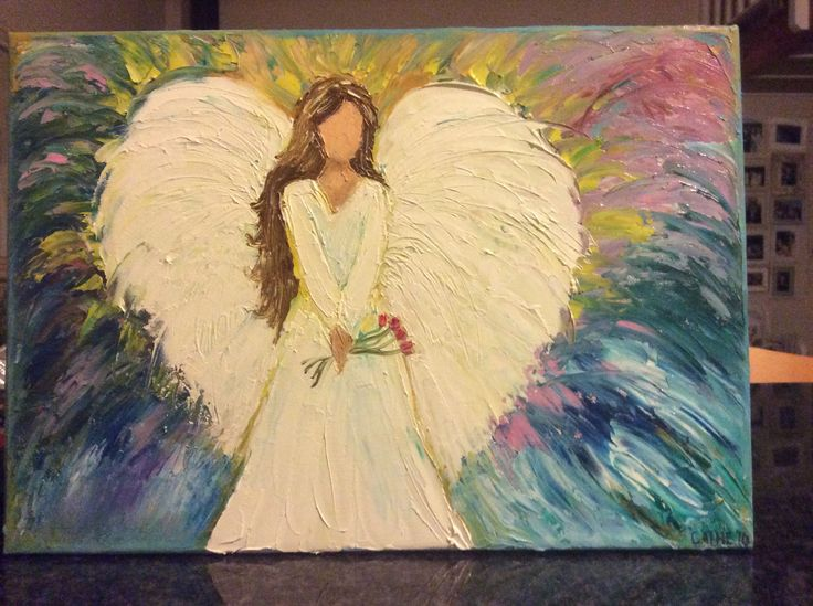 My angel in oils