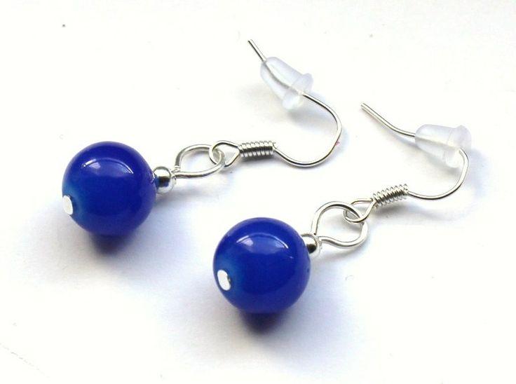 Chabrowe kolczyki ze szklanych kulek 10 mm w Especially for You! na http://pl.dawanda.com/shop/slicznieilirycznie  #kolczyki #earrings  #handmade #DaWanda