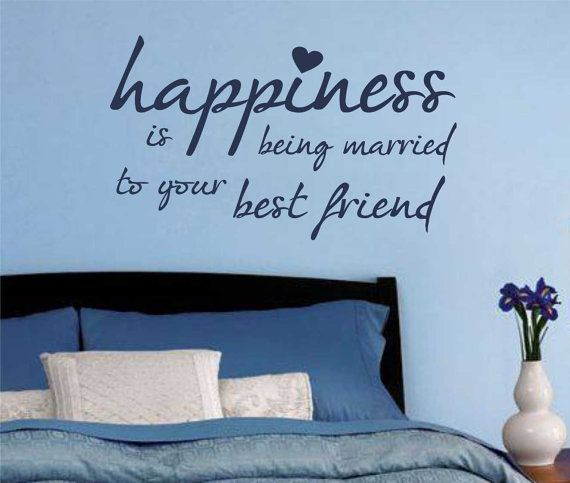 Vinyl Wall Lettering Romantic Quote Happiness by WallsThatTalk, $13.00