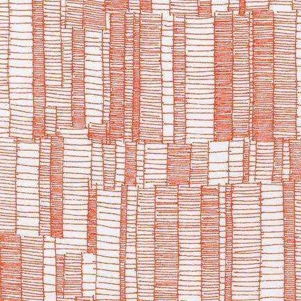 Doe - Drawn Stripe in Tangerine