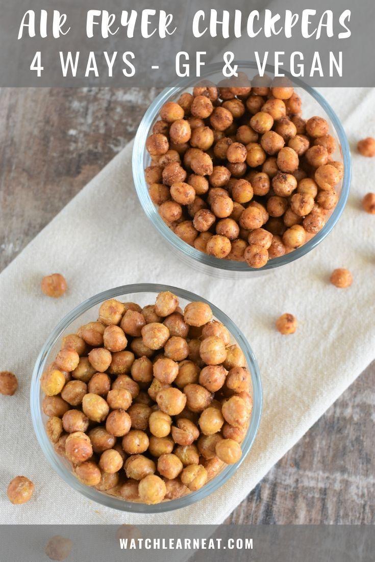 Air Fryer Chickpeas In 2020 Vegan Snacks Easy Vegan Snack Recipes Air Fryer Recipes Vegan