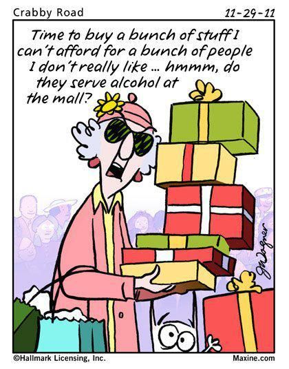 Maxine Christmas humor.. Having so much fun with this one!