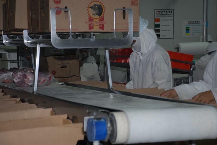El sistema de proceso de empacado de carne fue observado por el gobernador y los empresarios de CIASA.