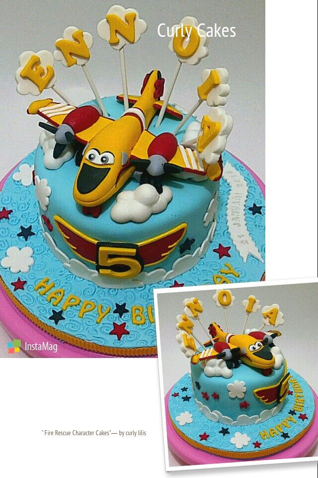 Fire rescue character cake