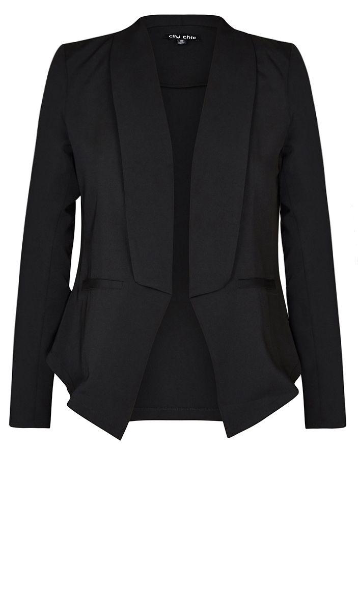 City Chic - COOL BLAZER JACKET - Women's Plus Size Fashion