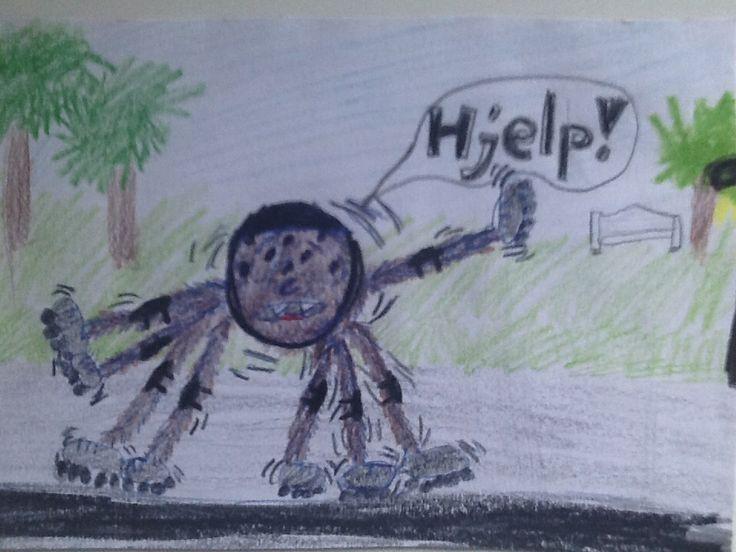 En tullete og gøyal teining jeg tegnet da jeg var 7. I en konkurranse.