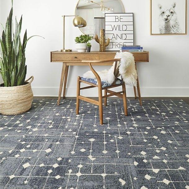 Hollin Hills Dusty Blue Mid Century Modern Rugs Modern Carpet
