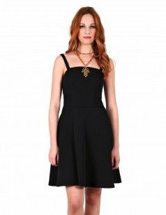 Black quilted prom dress