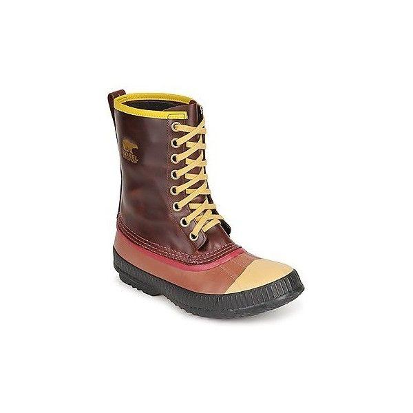 Sorel MENS SENTRY ORIGINAL Snow boots (18.825 RUB) ❤ liked on Polyvore featuring men's fashion, men's shoes, men's boots, brown, mens snow boots, sorel mens boots, mens shoes, mens brown shoes and mens brown boots