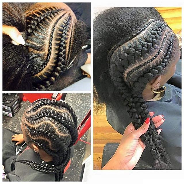 Ghana braids!  #ghanabraids #feedinbraids #cornrows #ethnichair #naturalhair…