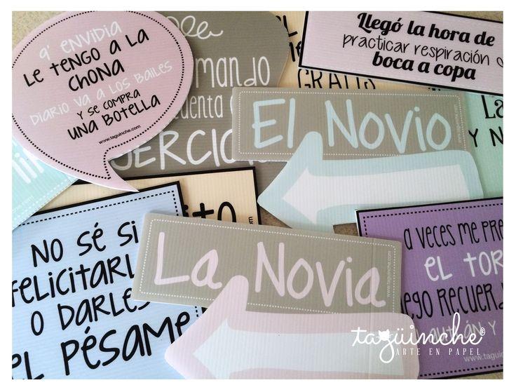 Letreros pastel www.taguinche.com