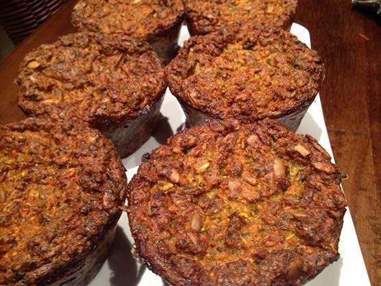 Large muffins ready for freezing for that meal when you are stuck!  zucchini, carrot, feta cheese, eggs, olive oil, seeds, oats and spelt flour............ YUM Eat great food while losing weight: No calorie counting. Get Results  Join the challenge.... Warm up 2nd October for 6th October launch:  ITS ALL ABOUT THE FOOD! 80% FOOD 20% EXERCISE   www.fatbustercgallenge.com.au  FEEL FREE TO SHARE   #zucchini #food #healthy #eggs #seeds #spelt #muffins