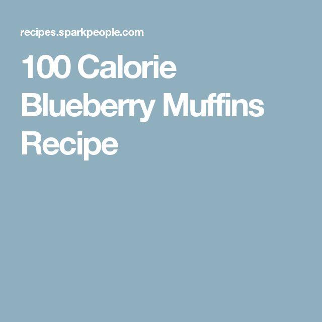 100 Calorie Blueberry Muffins Recipe