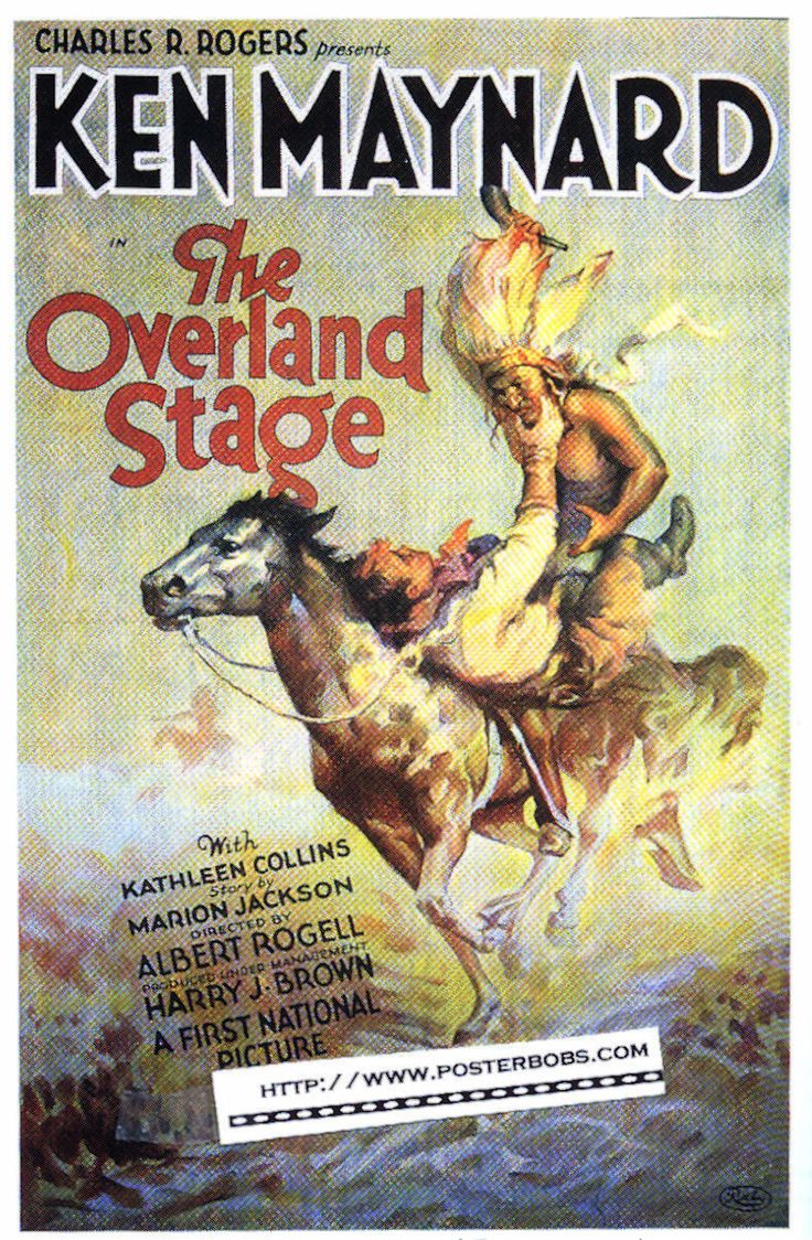 stagecoach movies   the overland stage 1927 platinum classic movie poster print starring