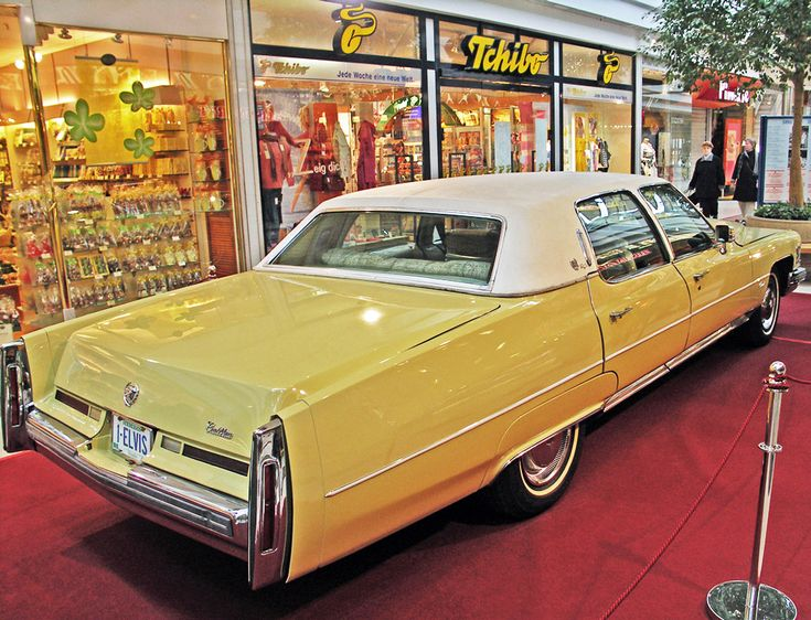 The King's 1975 Cadillac Fleetwood at the Elvis Presley Museum in Saint Margrethen, Switzerland.