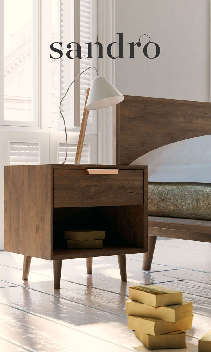 Complete the classic mid-century modern dream with this dreamy Asher night stand.