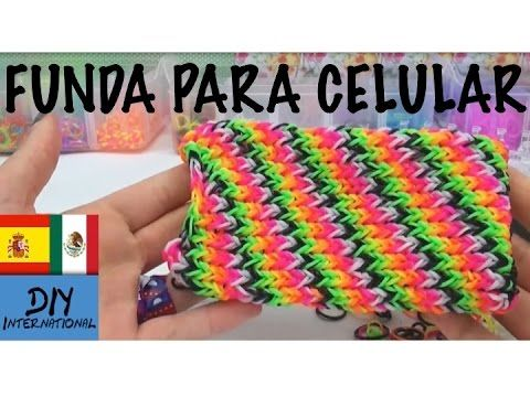 FUNDA PARA CELULAR CON GOMITAS - FORRO PARA CELULAR HTC ONE - TUTORIAL EN ESPAÑOL - DIY - YouTube