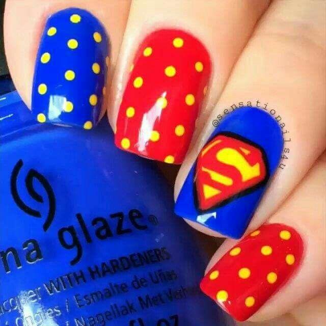 Superman uñas                                                                                                                                                                                 More