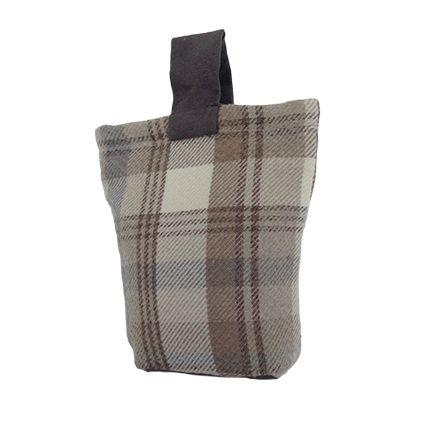 Natural Wool Look Tartan Check Fabric Door Stop - McAlister