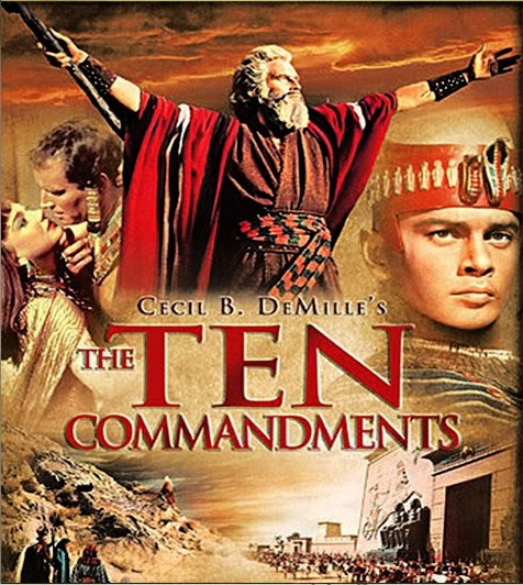 The Ten Commandments - One of my favorite movie of all times - I will always remember Charlton Heston fondly because of this movie. We'll over look his NRA days.