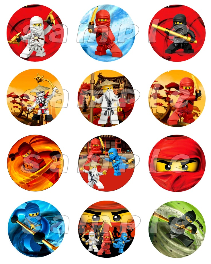 #Lego #Ninjago Set of 12 Round #Personalized #Stickers or #Cupcake #Toppers #handmade #thecraftstar $2.99