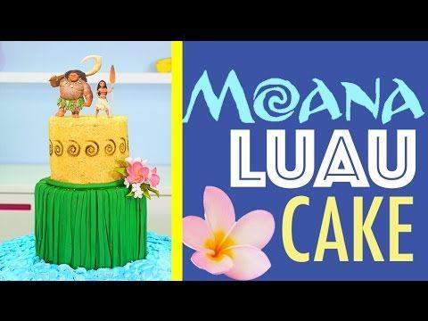 Princess MOANA Cake - How to make a Hawaiian Luau Beach Cake | Disney Princesses - YouTube