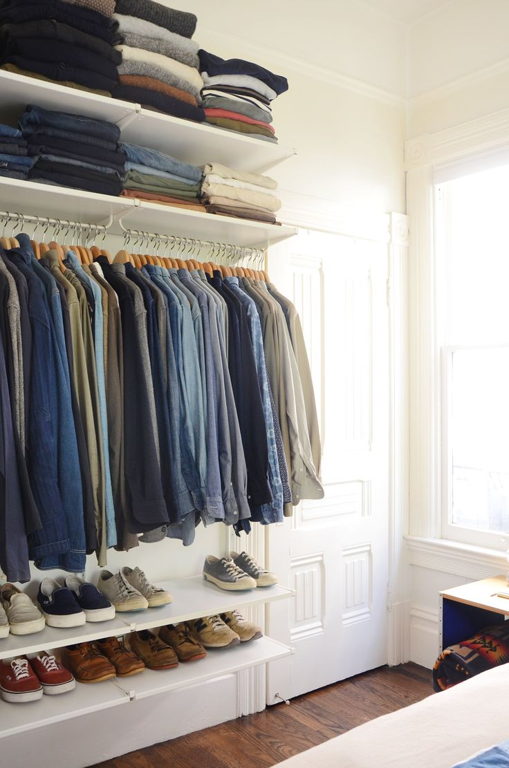 The couple says lack of closet space