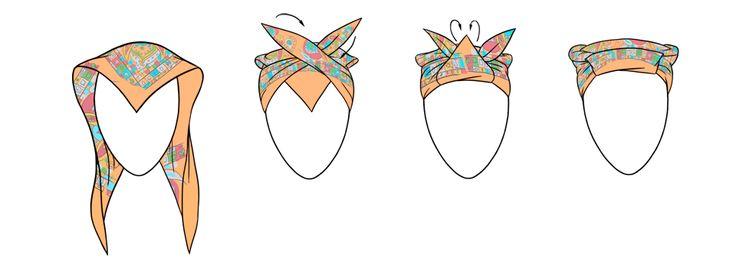 7 способов повязать платок на голову / Surfingbird - все, что интересно тебе