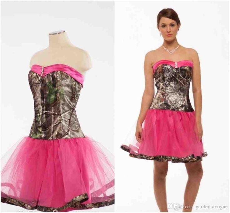 Pink Camo Wedding Dresses For Sale