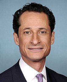 Anthony Weiner ( 1964 - )  an American politician and former U.S. representative who served New York's 9th congressional district from January 1999 until June 2011. A member of the Democratic Party, he won seven terms, never receiving less than 59% of the vote. Weiner resigned from Congress in June 2011, due to a sexting scandal.  He was a member of the New York City Council from 1992 to 1998, and a congressional aide to then–U.S. Representative Chuck Schumer from 1985 to 1991. A New York…
