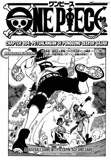 One Piece chapter 804 Ace Sabo Luffy